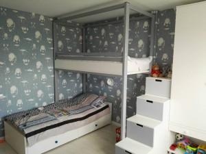 Кровать чердак в классическом стиле